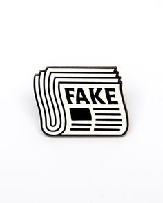Fake News pin from @junkowears This post is fake news! You are fake news! Everything is fake news! Fake news! Available to purchase through their link in bio! 10% of proceeds get donated to the Committee to Protect Journalists.
