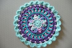 Ravelry: buttercup11's 0137 - Little Spring Mandala; link to free pattern