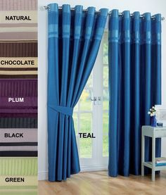 Ring Top Pair Eyelet Ready Made Curtains Voile Bedroom