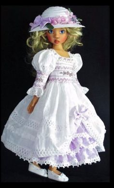 Handmade smocked dress set made for Kaye Wiggs Dolls