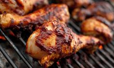 Servings 2 , Cook+Prep Time: 125 mins Ingredients: 6 chicken drumsticks 1 ounce) can chipotle peppers in adobo 2 tablespo. Chipotle Chicken, Grilled Chicken Recipes, Tandoori Chicken, Easy Clean Eating Recipes, Healthy Recipes, Turkish Chicken, Best Fruit Salad, Arabic Food, Food Photo