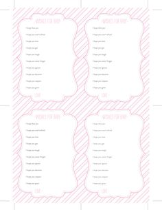 free baby shower printable