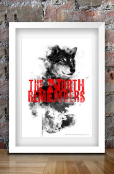Game of Thrones Inspired Print A3 The North by thedesignersnursery, $30.00 #GameofThrones, #theredwedding