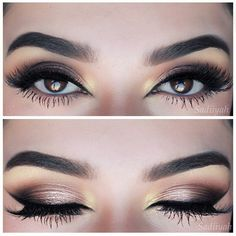 Gorgeous eyes. Smokey makeup look perfection. Bridal makeup inspiration. Add mink lashes to complete the look.
