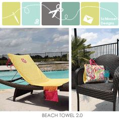 Upgrade Your Standard Beach Towel To Add Lots Of Functional Pockets,  Handles, And A Way To Easily Attach It To Any Pool Or Camp Chair!