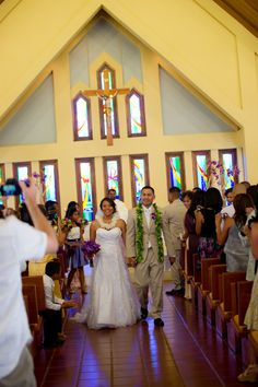 We LOVE the Sacred Hearts Church for intimate Catholic ceremonies on Maui. This church is located in Kapalua and is affiliated with Maria Lanakila. Contact expert planner Tori Rogers to plan your Catholic ceremony at this venue. Photo by Photography by Karma Hill.