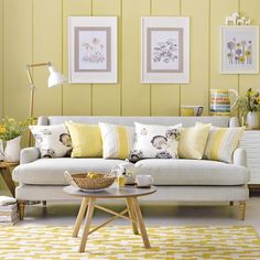How to Decorate Your Living Room with Cheery Yellow | Black lamp ...