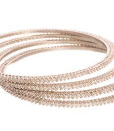 Buy Captivating Cz Diamond Bangle with Rodium Polish. bangles-and-bracelet online