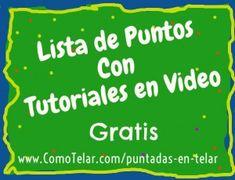 Puntadas en Telar Redondo - Lista http://www.comotelar.com/puntadas-en-telar/