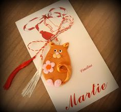 Martisor pisica Minnie Mouse, Christmas Ornaments, Holiday Decor, Blog, Fimo, Christmas Jewelry, Blogging, Christmas Decorations, Christmas Decor