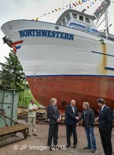 King Harald of Norway Visit to Pacific Fisherman