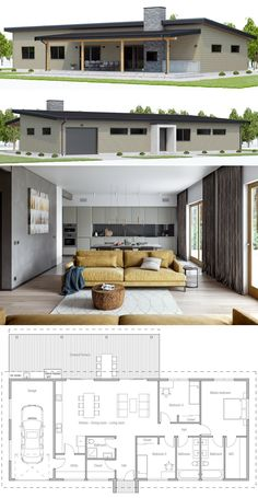 Small Affordable Home Plans, Home Plans, House Plans, New House Plans, Dream House Plans, Modern House Plans, Small House Plans, House Floor Plans, Architecture Design, Minecraft Architecture, The Plan, How To Plan