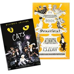 """CATS DVD & OLD POSSUM'S Book Set - This set includes the """"CATS"""" DVD and the book, """"Old Possum's Book"""" by T.S. Eliot.   CATS Original Production. 16 cameras were placed around the stage to capture the momentous dances, costumes, sets, and delights of Andrew Lloyd Webber's hit-the longest running musical in Broadway history. Enjoy the fabulous songs based on Old Possum's Book of Practical Cats by T. S. Eliot. Let your class study the poetry then watch the show!"""