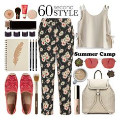 """""""60-Second Style: Summer Camp"""" by helenevlacho ❤ liked on Polyvore featuring Prada, Chicwish, Tory Burch, Ray-Ban, Pixi, Claudio Riaz, Maison Margiela, contestentry, summercamp and 60secondstyle"""