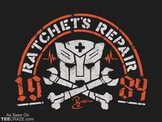 Ratchets Repair T-Shirt Designed by Coddesigns