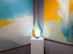 colorful and fun! Don't care so much for the sculpture but love how all the colors tie in together in this exhibit!   --Onessimo Fine Art Gallery