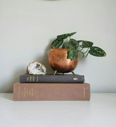 Mid Century Modern Planter Copper Planter, Small Planter Rose Gold Home Decor, Planter with Legs, Round Planter Rose Gold Planter Copper Pot by ShopMidCenturyModest on Etsy https://www.etsy.com/listing/506781456/mid-century-modern-planter-copper