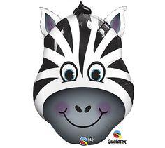 """32"""" Zany Zebra Stripes Mylar Balloon"""