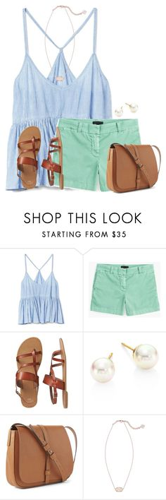 """Please go follow my friend @flroasburn!!!"" by victoriaann34 ❤ liked on Polyvore featuring Gap, J.Crew, Majorica and Kendra Scott"