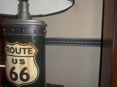 Freeway in wall. Route 66 Decor, Guest Room Decor, Room Ideas, Decor Ideas, Car Themes, Kid Bedrooms, Transportation, Kids Room, Cars