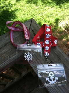 Cruise Lanyard and ID Holder (without bow) on Etsy, $6.50