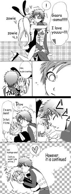 Naruto and Gaara.  It just so funny!