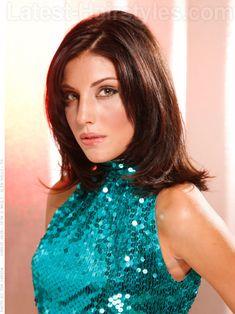 Daring Diva Smooth Brunette Layered Straight Style