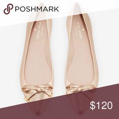 Kate spade rose gold Emma flats New without box. Beautiful rose gold flats, I actually purchased these as a backup for my wedding shoes in case I didn't want to wear heels! They are a gorgeous rose gold color. kate spade Shoes Flats & Loafers