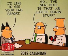 Dilbert calendar System Analyst in Tech support and other geek requirements for a new systems analyst