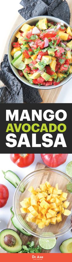 Mango Avocado Salsa is a side or appetizer for great for pleasing a crowd.