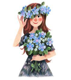 Bella ilustración de la Artista ilustradora Genevieve Godbout. ✿⊱╮