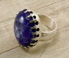 Sterling Silver and Dichroic Glass Ring  by SilverStringsStrands, $25.00