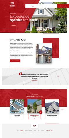 Various website UI / UX designs created in 2016.
