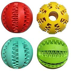 JsMiller 4 Pack Drain Food Ball Dog Chew Toy @@@ You can learn more by visiting the image link. (This is an affiliate link and I receive a commission for the sales)