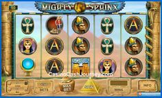 Newest Neogames Slot machine for July 2013 is Mighty Sphinx a 5 reel, 50 payline slot. Read more and where to play at http://blog.casinocashjourney.com/2013/07/15/mighty-sphinx-neogames-slot/