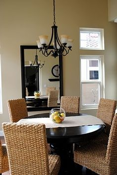 Dining room idea. Love the chairs.