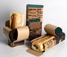 Take Away Packaging - cool concept of peeling down the packaging as you eat more and more