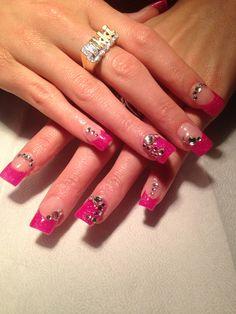 #glitternailart, #pinkglitternailart, #permanentfrench, #nailart