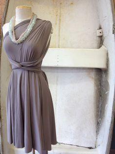 Mocha Seashell Octopus Infinity Wrap Dress by CoralieBeatrix, $79.99
