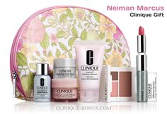 A slightly higher min. spend but a nice gift from Neiman Marcus http://clinique-bonus.com/other-us-stores/ during its Beauty Event