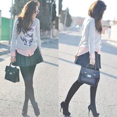 Cat with Glasses (by Crris LoveShoppingandFashion) http://lookbook.nu/look/3107347-Cat-with-Glasses