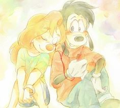 Max and Roxanne | by Y @ Pixiv.net // goof troop; a goofy movie