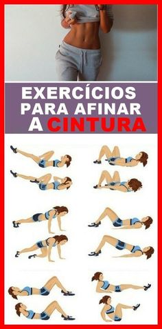 Exercícios para Afinar a Cintura e Queimar Gordura Sem Sair de Casa! Exercícios para Afinar a Cintura e Queimar Gordura Sem Sair de Casa! Fitness Logo, Body Fitness, Physical Fitness, Health Fitness, Fitness Diet, Fun Workouts, At Home Workouts, Yoga Nature, Fitness Motivation