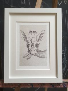 Baby giraffe sketch print giraffe pencil sketch illustration
