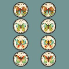 Butterfly Magnet Set Of 8, $17.50, now featured on Fab.