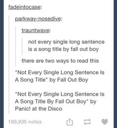 panic at the disco tumblr posts - Google Search