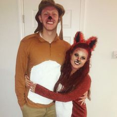 the foxy fox and hottie hound couple costume hallows eve pinterest costumes halloween costumes and halloween ideas