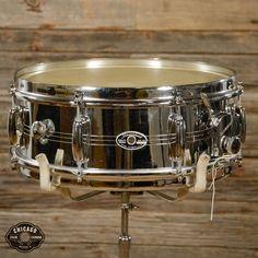 Slingerland 5x14 Chrome Over Brass Gene Krupa Snare Drum 70s