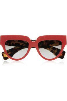 Prada Cat eye acetate sunglasses | NET-A-PORTER