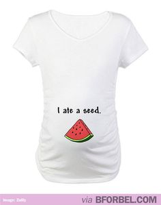 Seriously LOVE this pregnancy t-shirt although I'm far from needing it. So cute! $14.99